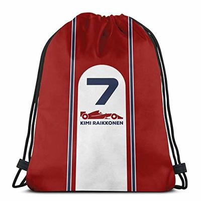 Vixerunt Kimi Raikkonen F1 2019Drawstring Bags Drawstring Backpack Sports Gym Beach Bag for Gym Shopping Sport Yoga