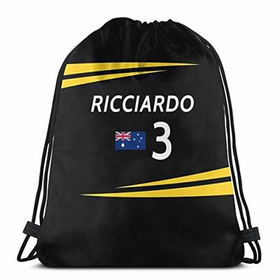 Vixerunt F1 2019 – #3 RicciardoDrawstring Bags Drawstring Backpack Sports Gym Beach Bag for Gym Shopping Sport Yoga