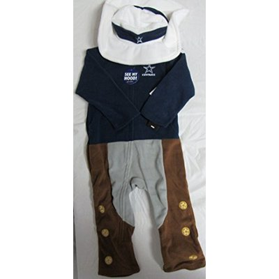 "Mascot Wear Dallas Cowboys Toddler Size 3T Fleece Outfit with Detachable""Cowboy Hat"" F1 3"