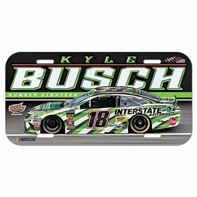 Win-craft Kyle Busch 2019 Plastic Car NASCAR License Plate