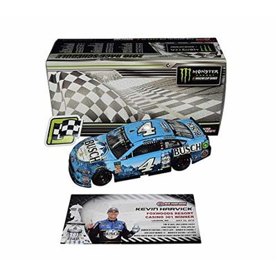 AUTOGRAPHED 2018 Kevin Harvick #4 Busch Beer Racing LOUDON NEW HAMPSHIRE WIN (Raced Version) Monster Energy Cup Series Signed Lionel 1/24 NASCAR Diecast Car with COA (#171 of only 505 produced!)