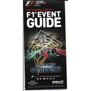 2015 Lewis Hamilton Formula 1 F1 Yas Marina Circuit Mercedes Signed Event Guide – Autographed Products