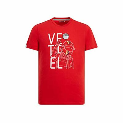 Branded Sports Merchandising B.V. Scuderia Ferrari Men's F1 Sebastian Vettel Red T-Shirt (S)