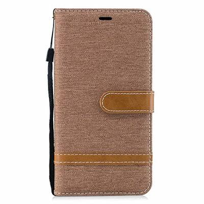 Xiaomi Pocophone F1 Case, Lomogo Leather Wallet Case with Kickstand Card Holder Shockproof Flip Case Cover for Xiaomi Pocophone F1 – LOBFE13740 Brown