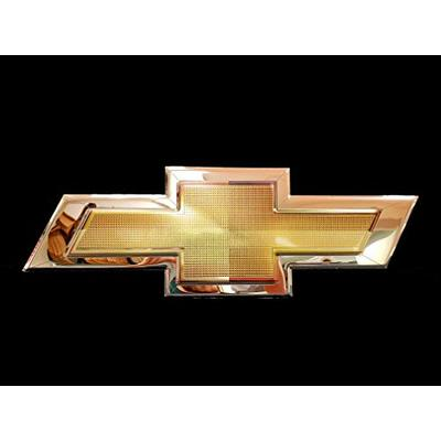 Chrome Domz Gold Bow Tie Chrome Sign, 12 Inches by 28 Inches, Metal Sign