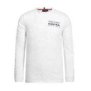Branded Sports Merchandising B.V. Red Bull Racing F1 Unisex Long Sleeve Logo T-Shirt White (L)