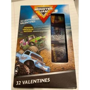 MONSTER JAM Classroom 32 Valentine Day Cards Lenticular Motion 2020
