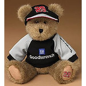 Boyds NASCAR Plush Teddy Bear in Sweatshirt and Hat Kevin Harvick #29 Goodwrench
