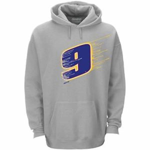 Checkered Flag Sports Chase Elliott #9 Napa 2019 NASCAR Men's Big Number Hoodie (X-Large) Gray