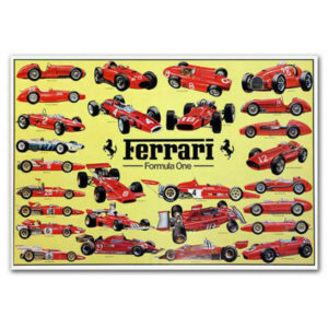 Ferrari Formula One Poster Fridge Magnet Collectible Size 2x 3 Collectibles