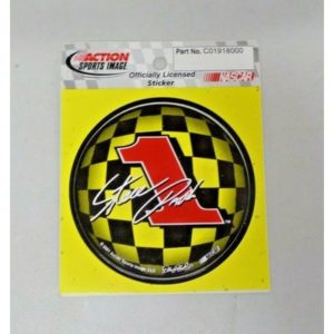 Vintage Steve Park #1 NASCAR Decal Action Sports Round Yellow Black NEW 6010