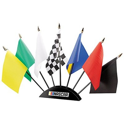 ISFB2B NASCAR 7-Piece Flag Desk Set