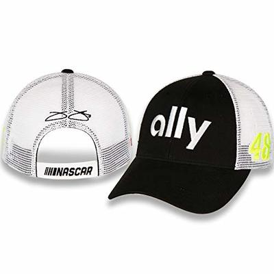 NASCAR Jimmie Johnson #48 Ally Adult Black Twill and White Mesh Draft Hat