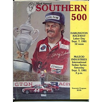 Darlington Raceway-Southern 500-NASCAR Race Program 9/7/1981-Allison-Elliott-VG