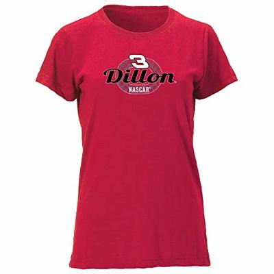 NASCAR Richard Childress Racing Austin Dillon Womens W Vintage Blend Relaxed Fit S/S TW Vintage Blend Relaxed Fit S/S T, Vintage Red, X-Large
