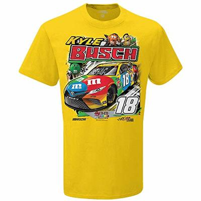 SMI Properties NASCAR Kyle Busch Mens Kyle Busch #18 Backstretch TeeKyle Busch #18 Backstretch Tee, Yellow, XXLarge