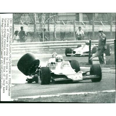 Didier Pironi, formula one Grand Prix of Italy. – Vintage Photograph
