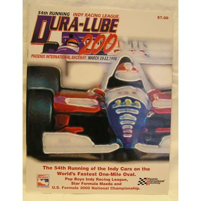 1998 PIR CART/PPG Indy Car World Series Racing Program Dura-Lube 200 Spring Race