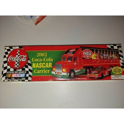 (Coca-Cola) 2002 Official NASCAR Carrier Transport with Race Car ( New)