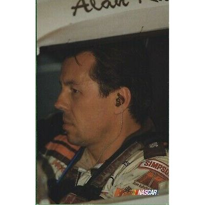 Vintage Nascar Postcard Alan Kulwicki #7 Memorial Card  Race Car Racing 9 of 10