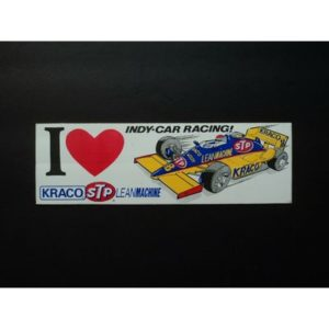 Vintage Kraco Stp Indy Car Racing Decal Sticker Indianapolis 500