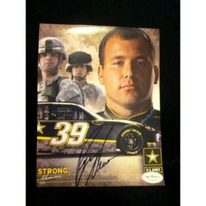 RYAN NEWMAN NASCAR CUP SERIES HAND SIGNED 2011 PHOTO COA JSA