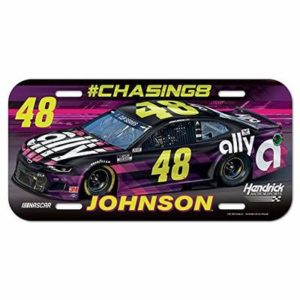 Wincraft Jimmie Johnson 2020 Ally #48 NASCAR Plastic Car License Plate