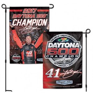 Kurt Busch #41 2017 Daytona 500 Champion NASCAR 2-Sided Garden Flag (12.5″x18″)