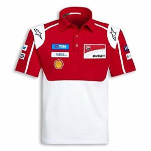 POLOSHIRT Bike MotoGP Ducati Alpinestars Sponsor Polo Motorcycle  Red US