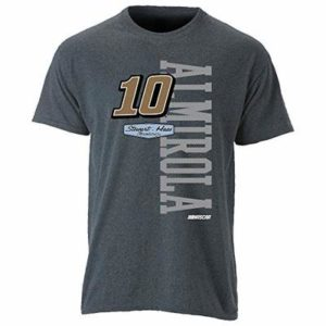 NASCAR Stewart Haas Racing Aric Almirola Mens Ouray S/S TOuray S/S T, Graphite, X-Large