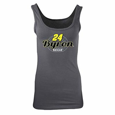 Ouray Sportswear NASCAR Women's W Jersey Tank William Byron, Dark Grey, Medium