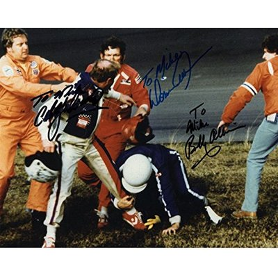 CALE YARBOROUGH+DONNIE+BOBBY ALLISON SIGNED 8×10 PHOTO+COA RARE TO MIKE – Autographed NASCAR Photos