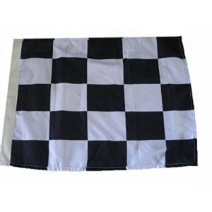 Brass Blessing : Checkered Nascar Racing Flag – Black and White – CAR/Race/Sports Flag (Cotton, 27″ X 35″)