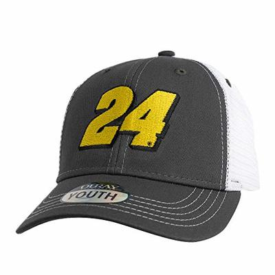 Ouray Sportswear NASCAR Youth Sideline Mesh Cap William Byron, Grey/White, Adjustable