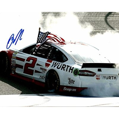 2015 Brad Keselowski MILLER LITE WURTH RACING NASCAR Signed 8×10 Photo #1 – Autographed NASCAR Photos