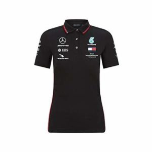 Mercedes AMG Petronas Women's Replica Team Polo Shirt | Black | 2020