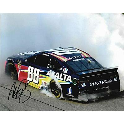 2019 Alex AXALTA 1st Win Chicagoland WIN Signed 8×10 Photo COA (A) – Autographed NASCAR Photos