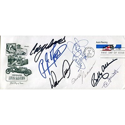NASCAR LEGENDS HAND SIGNED 4×9 FIRST DAY COVER+COA RARE SIGNED BY 7 LEGENDS – Autographed NASCAR Miscellaneous Items