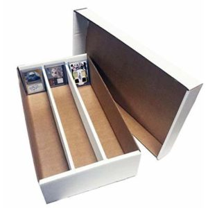 (6) SUPER Shoe 3 Row Storage Box (3000 Ct.) – Corrugated Cardboard Storage Box – Baseball,Football, Basketball, Hockey, Nascar, Sportscards, Gaming & Trading Cards Collecting Supplies by MAX PRO