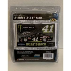 NASCAR BSI 2-Sided 3'X5′ Flag, Kurt Busch, heavy-duty polyester, loc 2