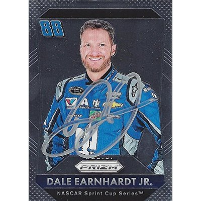 AUTOGRAPHED Dale Earnhardt Jr. 2016 Panini Prizm Racing (#88 Nationwide Team) Hendrick Motorsports Sprint Cup Series Signed NASCAR Collectible Trading Card with COA