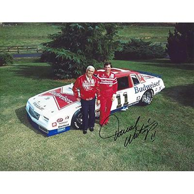 AUTOGRAPHED 1984 Darrell Waltrip #11 Budweiser Bowtie Chevrolet Racing (Junior Johnson Team) Rare Vintage Signed Collectible Picture NASCAR 9X11 Inch Glossy Photo with COA