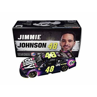 AUTOGRAPHED 2019 Jimmie Johnson #48 Ally Bank Racing RARE COLOR CHROME (Hendrick Motorsports) Monster Cup Series Signed 1/24 Scale NASCAR Diecast Car with COA (1 of only 180 produced!)