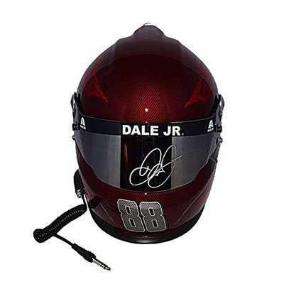 AUTOGRAPHED 2017 Dale Earnhardt Jr. #88 Axalta Racing Team RED SKULL DESIGN (Hendrick Motorsports) Monster Energy Cup Series Signed Lionel NASCAR Replica Full-Size Helmet with COA