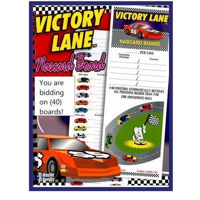 40 Tab VICTORY LANE Pole Position Nascar Boards Pull Tabs NEW 6 Count