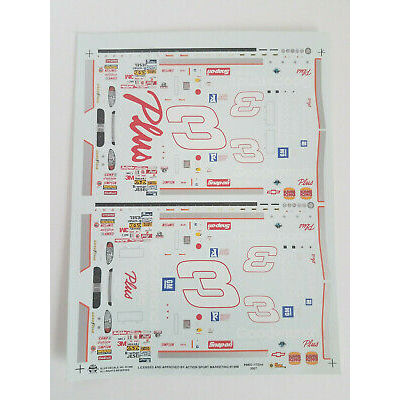 Dale Earnhardt Sr 1/32 Scale Waterslide Decal Sheet / Goodwrench Service Plus