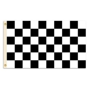 NASCAR BSI 3'X5′ Flag with Grommets, NASCAR, Checkered