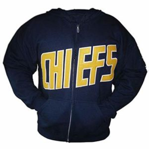 Charlestown Chiefs Slap Shot Ice Hockey Jerseys Embroidered Long Sleeves Sweater F1 Navy
