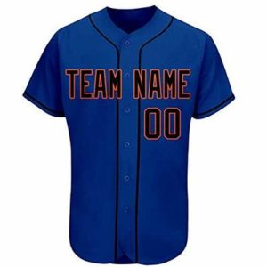 Navy Custom Men's Baseball Jersey Personalized Design Your Name Numbers Button Down Shirt f1