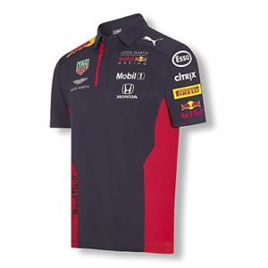 Aston Martin Red Bull Racing Men's Puma Replica Team Polo Shirt | Navy | 2020